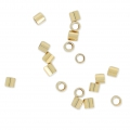 Schiaccini beads mm. 2x2 Gold filled 14k x50
