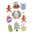 10 stickers 3D 50-10 mm Natale