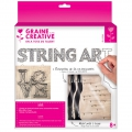 Kit String Art Love, forma quadrata, legno grezzo 22x22cm per la deco DIY