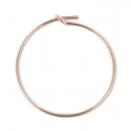 Orecchini da decorare mm. 25  x mm. 0.7 in Rose Gold filled 14K x2