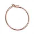 Orecchini da decorare mm. 15  x mm. 0.7 in Gold filled Rosa 14K x2