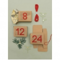 24 scatole calendario dell'avvento da ricamare - Paper Poetry - X-Mas - Kraft
