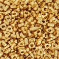 Spacer Triangle Miyuki 2.8x1.3 mm SPTR28-0191 - 24kt Gold Plated x5g
