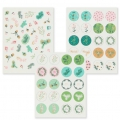 Assortimento di 170 Stickers Paper Poetry Classical Christmas x1