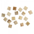 Set di 52 mosaici in madreperla quadrati 12x12 mm x40g