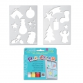Playcolor Window One - 6 stick tempera solida Tema Natale