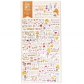 Assortimento di mini Stickers Kawaï Drawing Love