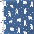 Cotone cerato Daily Like - Friendly Bear - Orso polare Blu x10cm