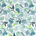 Tessuto cotone Daily Like - In the tropics leaf  - Tropicale x10cm