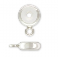 Stopper Bead 7 mm con un foro 2.5 mm et un anello in Argento 925 x1