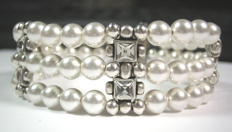 Bracciale Strass & Pearls