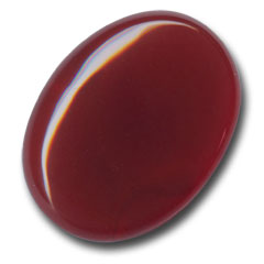 Cabochon ovale mm. 40x30 Red Agate