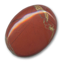 Cabochon ovale mm. 40x30 Diaspro Rosso