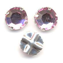 Strass da cucire mm. 6 Light Rose x5