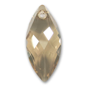 Pendente Navette Swarovski 6110 30x14 mm Crystal Golden Shadow x1