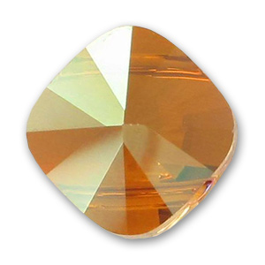 Square Swarovski 5180 14x14 mm Crystal Copper x1