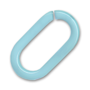 Anello aperto mm. 42 Chalk Aqua x1