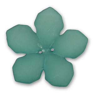 Bottone fiore mm. 38 Green Turquoise Frosted x1