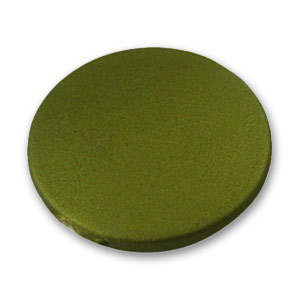 Disco piatto monocolore mm. 32 Olive Mat x1
