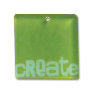 Pendente quadrato Create mm.32 Anice matt x1