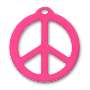 Pendente Peace mm. 26 Hot Pink x1