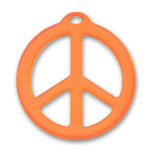 Pendente Peace mm. 26 Arancio x1