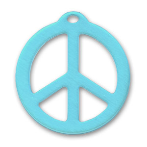 Pendente Peace mm. 26 Turchese x1