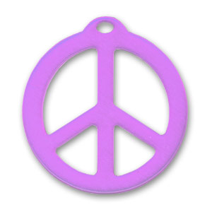 Pendente Peace mm. 26 Viola x1