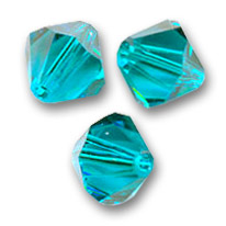 Biconi Swarovski mm. 3 Blue Zircon  x50