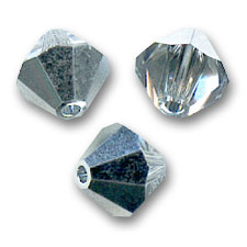Biconi Swarovski mm. 4 Crystal Comet Argent Light  x50