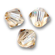 Biconi Swarovski mm. 3 Crystal Golden Shadow x50