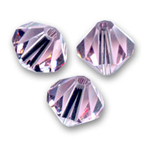 Biconi Swarovski mm. 3 Light Amethyst  x50