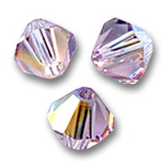 Biconi Swarovski mm. 3 Light Amethyst AB x50