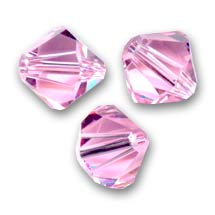 Biconi Swarovski mm. 6 Light Rose  x20