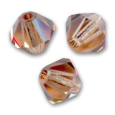 Biconi Swarovski mm. 3 Light Smoked Topaz  x50